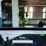 monitor displaying pexels website